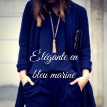 bleu marine, associer couleur