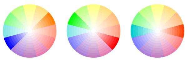 Associations en contrastes de couleur