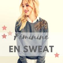 Féminine en sweat