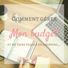 Apprendre a gérer son budget, budget shopping