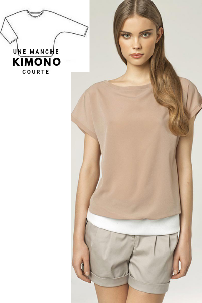 Manche kimono idéale pour les épaules carrées