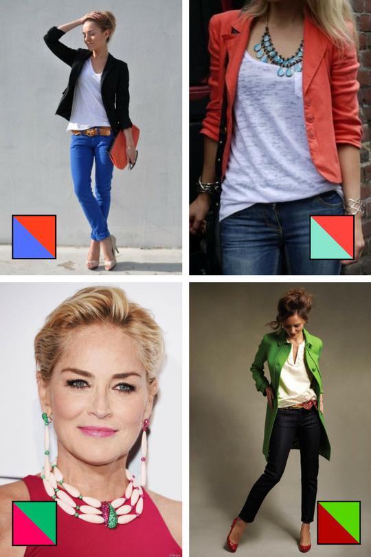 Associations de couleurs en contrastes