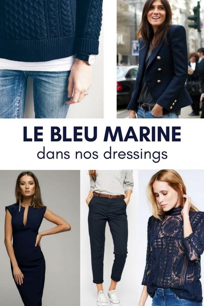 bleu marine dressing, associer couleurs