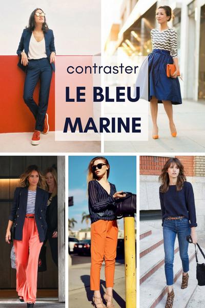 bleu marine orange, associer couleurs