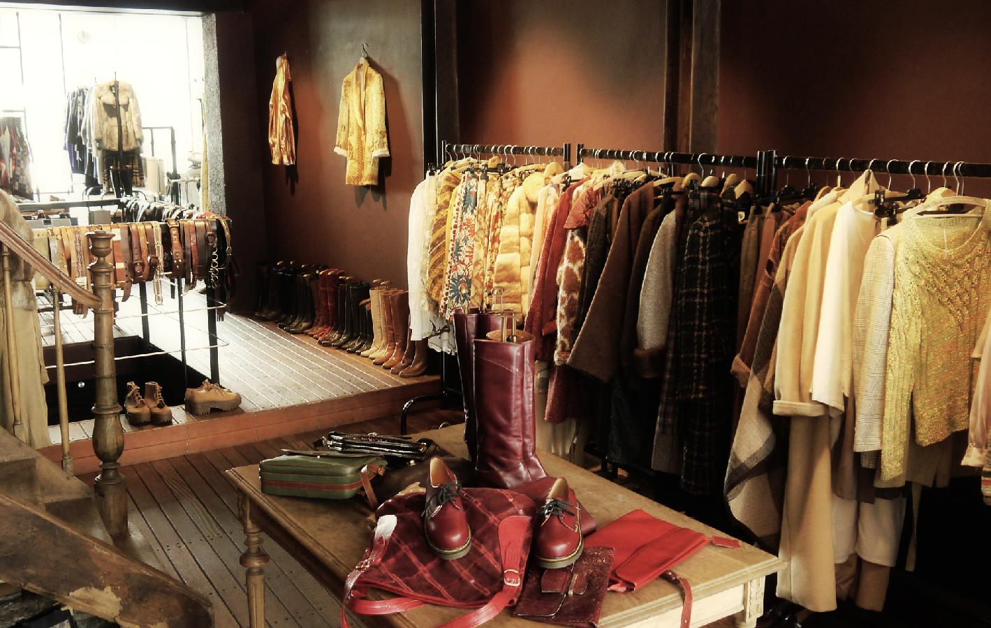 Acheter des vêtements de seconde main, vêtements vintage