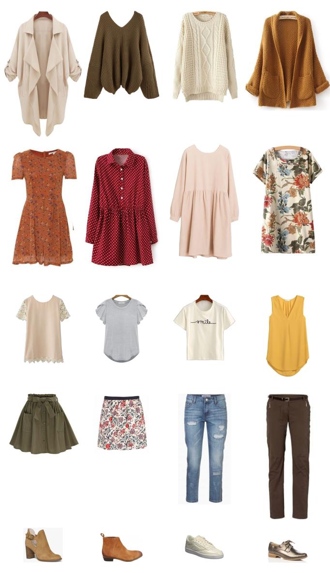 garde-robe femme automne, garde-robe capsule