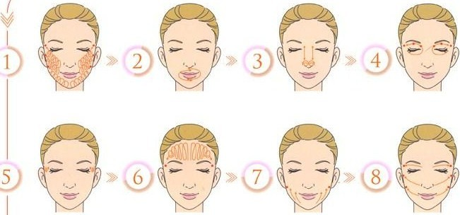 massage visage à l'huile, mille feuille visage, layering minimaliste
