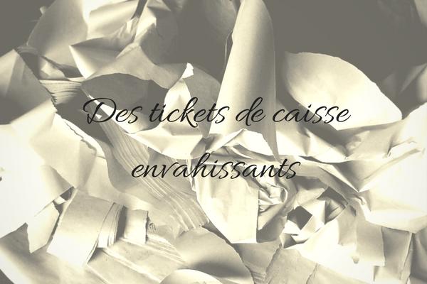 zéro déchets, tickets de caisse, déchets papier